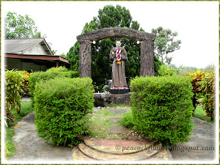 Lovely landscape around St Pio's Grotto at Franciscan Monastery, Ulu Tiram in Johor