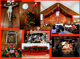 Christmas decor inside the Church of St Francis of Assisi, Cheras