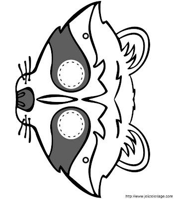 Máscaras tamaño natural de carnaval para colorear y recortar