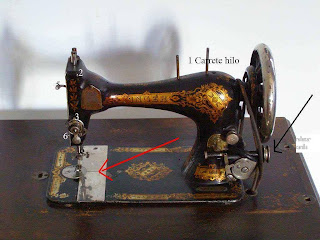 Enhebrar una máquina de coser singer antigua