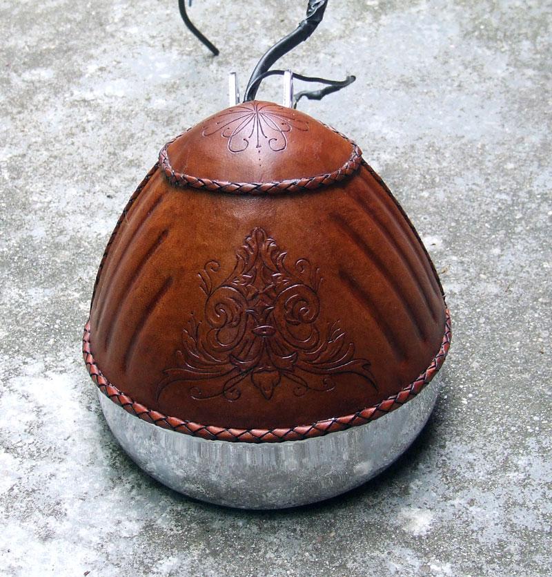 Leatheroo leather covered headlight