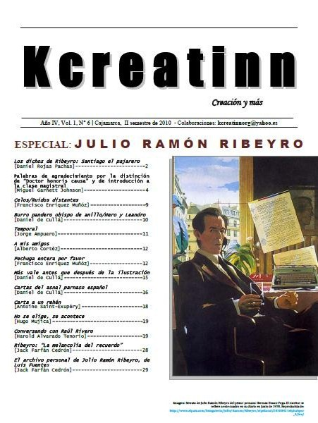 Revista Kcreatinn N° 6 - Especial: Julio Ramón Ribeyro