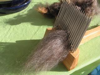 combing mocha shetland