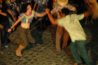 Coco de Roda do Mestre Benedito em apresentação na Festa das Neves- João Pessoa, agosto/2008 - Foto:Lilia Tandaya