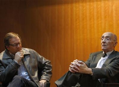 O Cineasta brasileiro Fernando Meireles e o escritor luso José Saramago