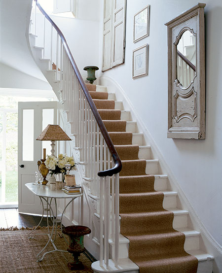 Lovely Contemporary Victorian Hallway: Stair Runners....whatcha' Think??