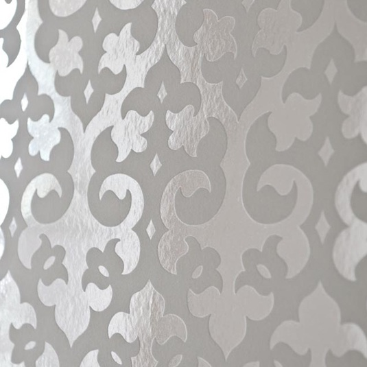 brocade home foil wallpaper via made by girl made