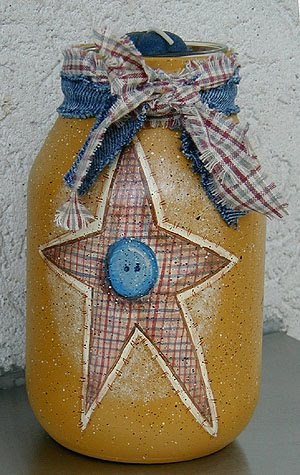 americana painted jars crafts by amanda