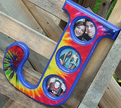 Tie Dye Decoupage Monogram Frame Crafts By Amanda