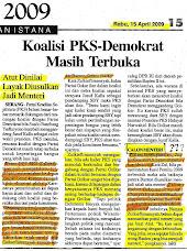 Dukungan Zulkieflimansyah buat Ratu Atut Chosiyah jadi Menteri Kabinet SBY 2009