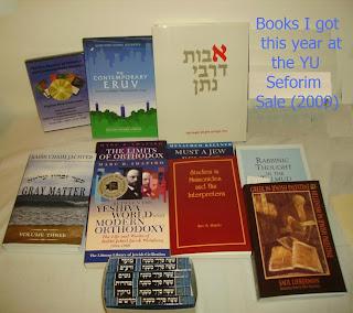 Books I got this year at the YU Seforim Sale