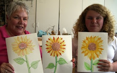 Sunflowers and Students on a gray Monday!