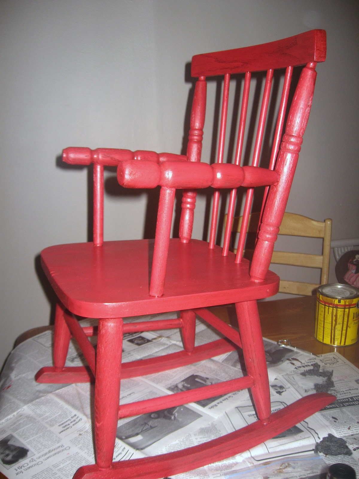 Little Red Rocking Chair ~ Rural grace the little red rocking chair