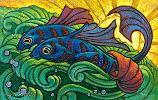 Art of Jeff Haynie Another textured fish painting