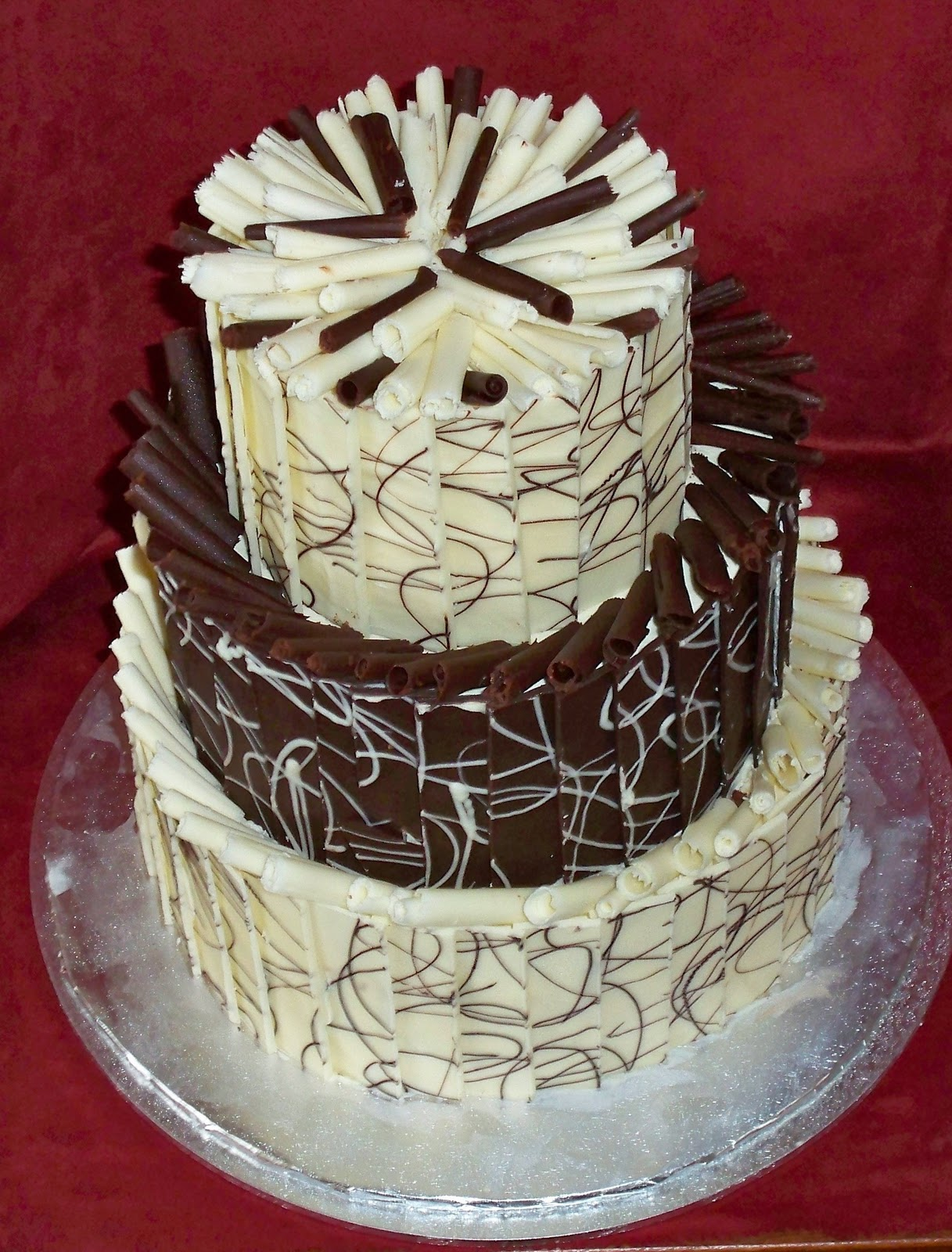Design Of Chocolate Cake : Milk, White, Dark Chocolate Dreams Elisabeth s Wedding Cakes