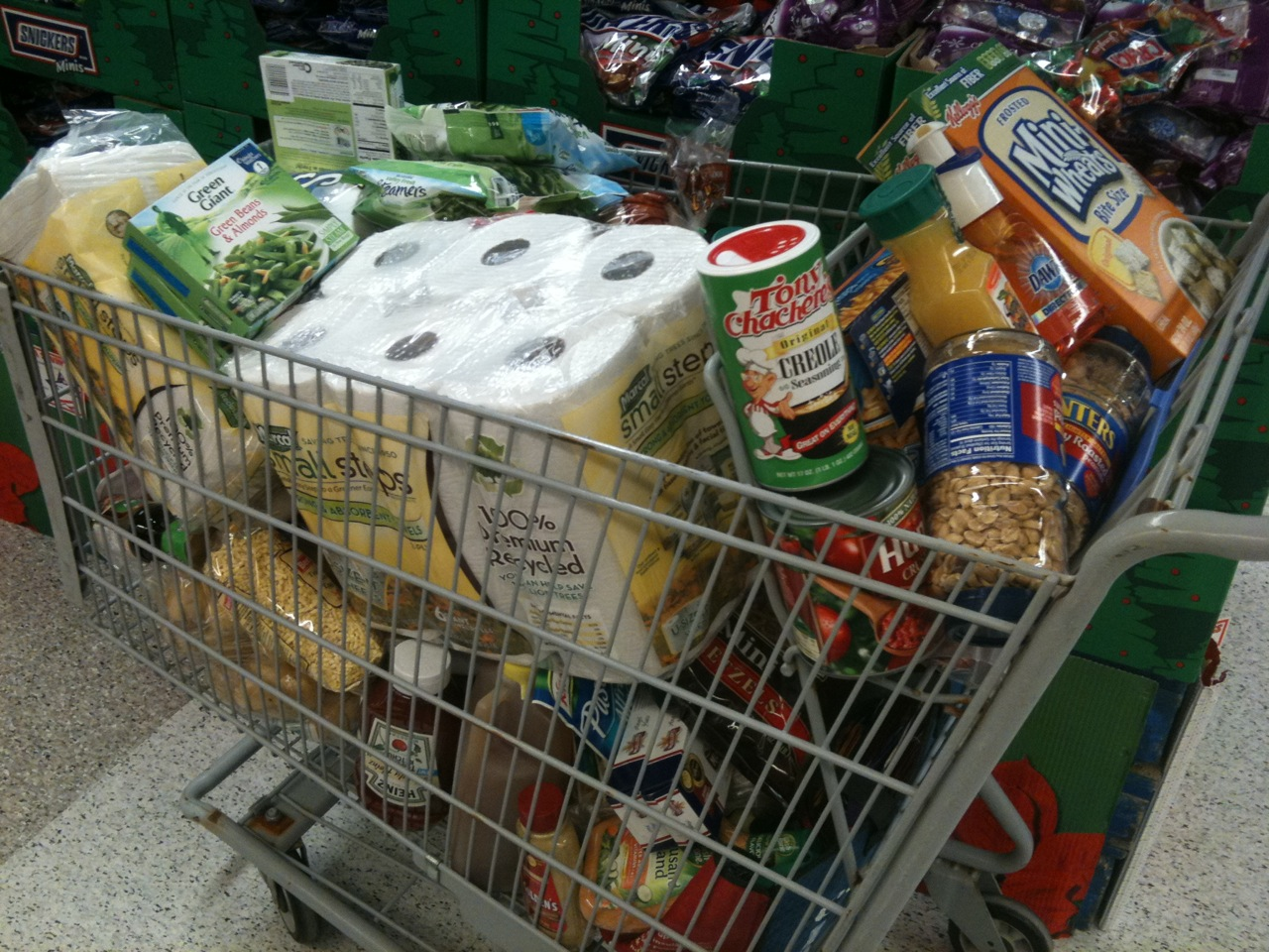 Charity Grocery Cart Could End Up Much Less Than Half Full