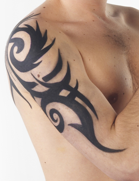 half sleeve tattoo designs for men tribal