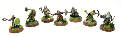 Dwarven battle company from Lord of the Rings Strategy Game