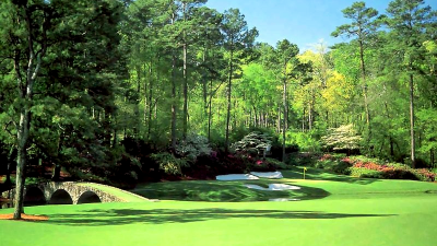 The twelfth green at Augusta. Magnificent.