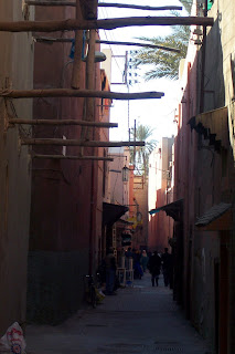 The alleyway outside my riad