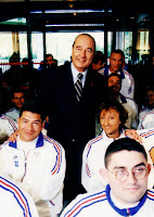 Encouragements de Jacques Chirac