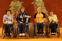 Podium des filles fauteuils