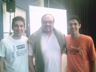 Danilo (postador Blog do Dan), Rubens Ewald Filho (crítico de cinema) e Éder (postador do CP)