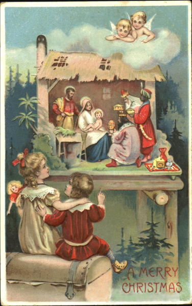 Открытка католическим рождеством
