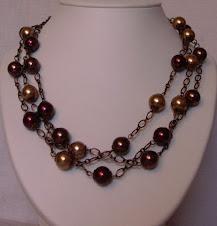 Perles Baroques sur chaîne cuivrée