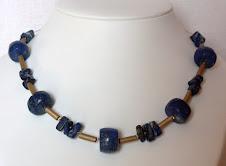 Lapis-Lazuli en doré