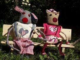Gaston et Coralie au jardin