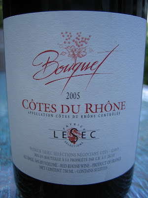 Patrick Lesec Cotes du Rhone Villages Rasteau