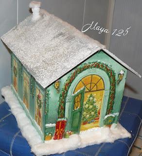 Новогодние поделки домик своими руками