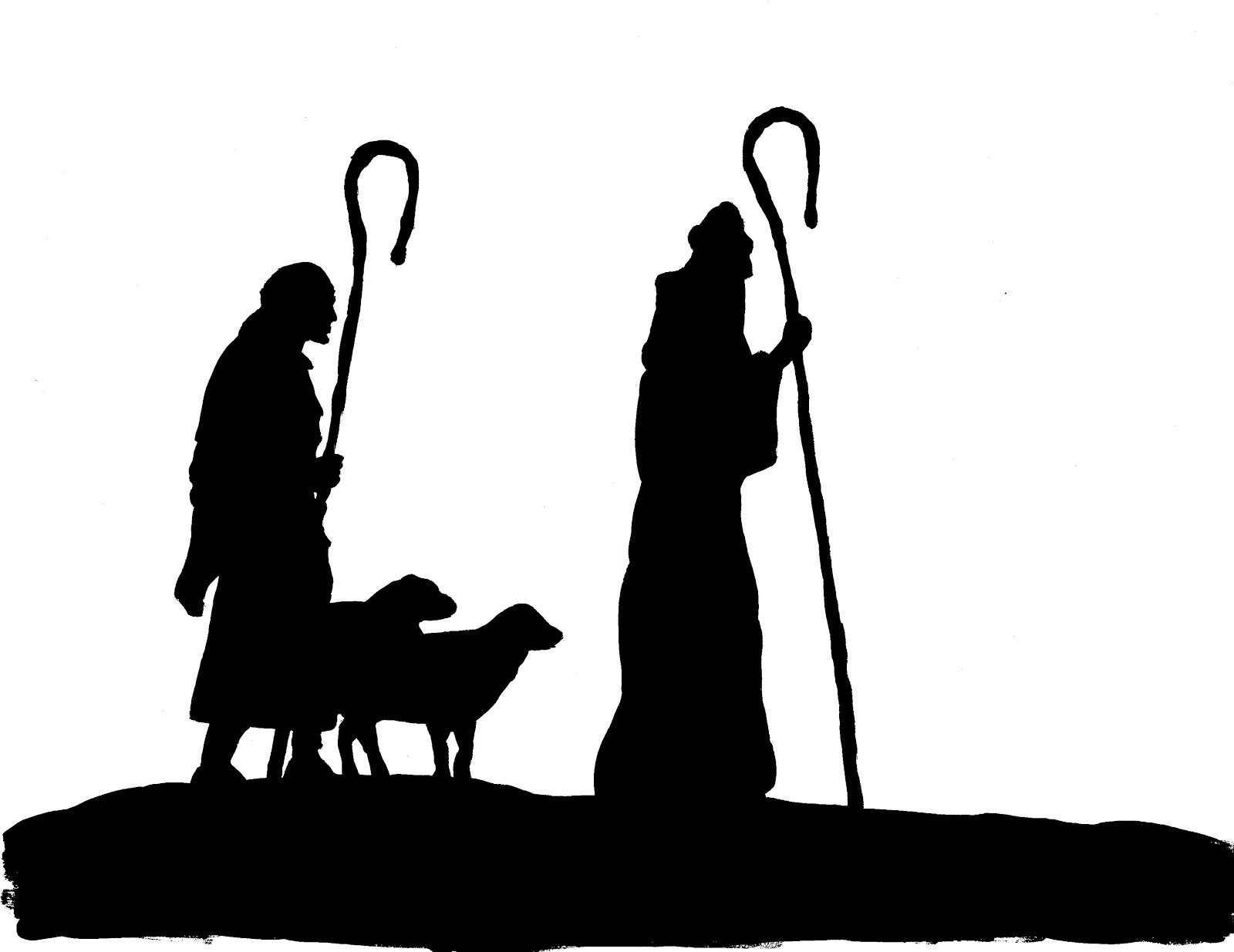 Lively image regarding free printable silhouette of nativity scene