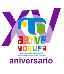 LOGO XV ANIVERSARIO APYME MOGUER