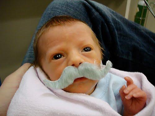 Koleksi Foto Bayi Berkumis