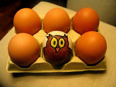¡un huevo de búho!