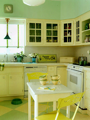 Kitchen Ideas Pale yellow kitchen cabinets Back splash tile
