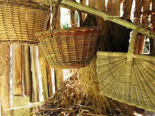 Baskets at Troglodyte farm, France