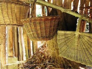 Baskets at Troglodyte farm, France