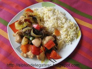 pui chinezesc cu legume