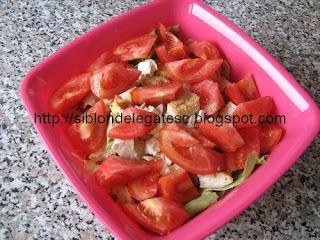 salata cu rosi si snitel