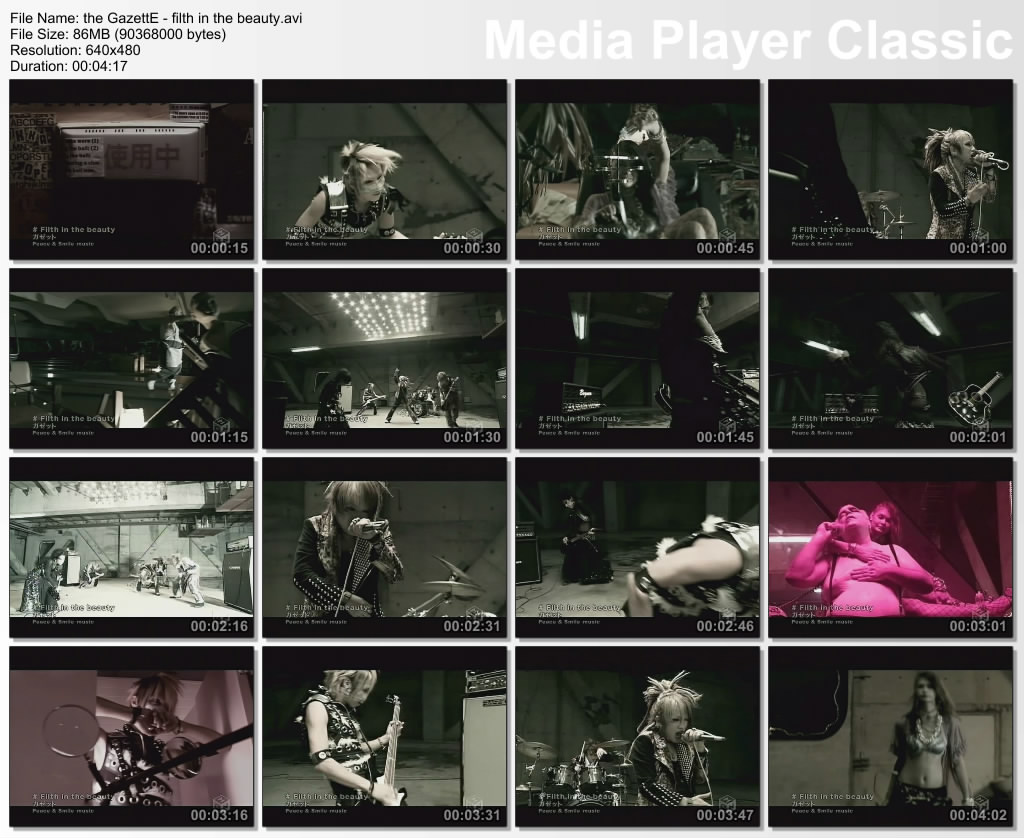 the GazettE - filth in the beauty [PV - Making off]