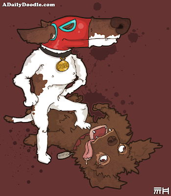 luchador dog fight