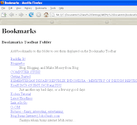 Firefox exported bookmarks
