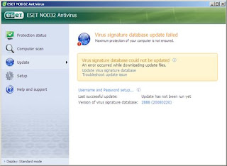 NOD32 manual update