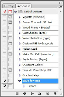 Photoshop CS3 Actions box