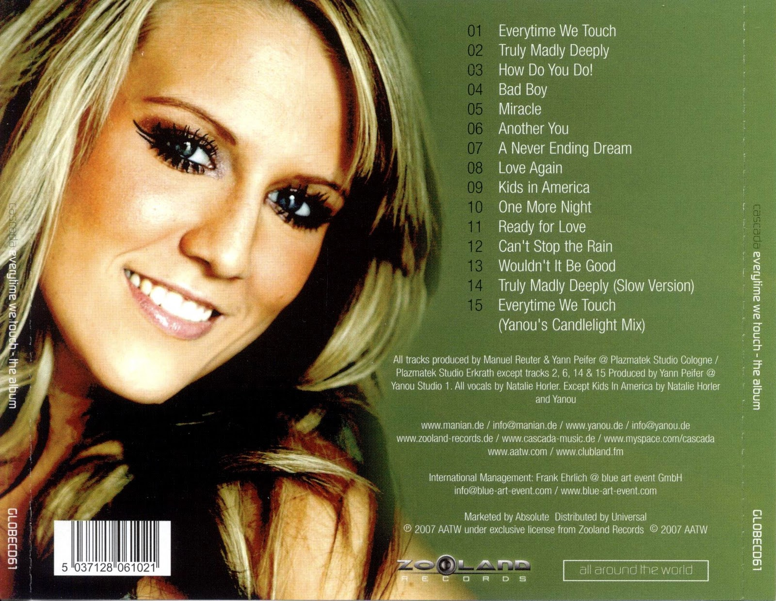 Cascada Everytime We Touch Video CD Booklets: Cascada -...