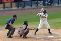Nevin Ashley was 2-3 at the plate with 2 doubles and a triple in Saturday's game.