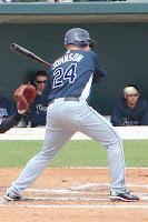 Dan Johnson hit his tenth home run of the season on Monday night to lead the International League in home runs.